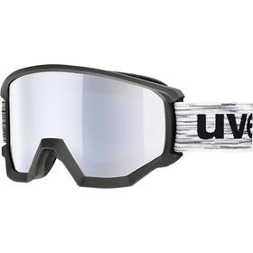 UVEX Athletic FM Goggles black mat/fullmirror silver